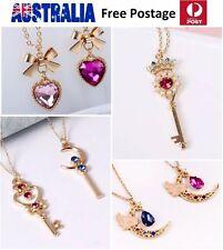 Woman Girl Fashion Anime Sailor Moon Unicorn Necklace Earrings Clip-on JN224