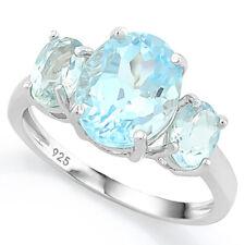 Damen Ring Clementine, 925er Silber, 5,573 Kt. echter Blautopas