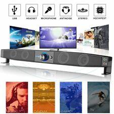 5W Speaker Sound Bar Wired Subwoofer Soundbar Stereo Super Bass For Home TV AU