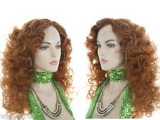 Long Blonde Brunette Red Wavy Curly Skin Top Wigs