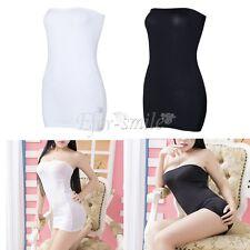 Strapless Bodycon Tube Sleeveless Top Dress Stretch Mini Slim Clubwear Party