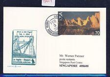 47821) SQ A 340 FF Los Angeles - Singapore 3.2.2004, stationary card