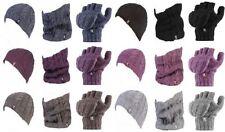Heat Holders - Damen Hut Nackenwärmer und fingerlose Handschuhe gesetzt 7 farben
