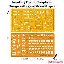 Jewellery Design Drawing Drafting Template Stencil Gemstone Stone Rings Bracelet