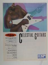 retro magazine advert 1983 ESP celestial guitars
