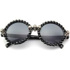 Rhinestone Sunglasses round Women Skull Punk Sun Glasses Party Hip Hop Hippie
