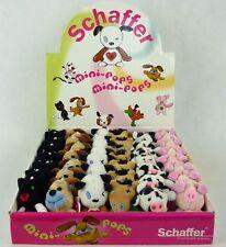 Schaffer Mini-Pops SuperMinis Handyanhänger Katze Hund Hase Pferd Kuh Schwein