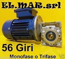 Motoriduttore 56 Giri HP 0,25 Riduttore di giri Motore Monofase Trifase Kw 0,18