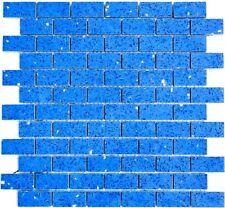 Mosaik Kunststein blau BAD WC Duschwand Fliesenspiegel Küchenrückwand 46-ASMB5