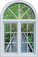 Stickers fenêtre trompe l'oeil Forêt réf 6268