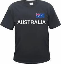 Australia t-shirt-negro/blanco con bandera-s hasta 3xl-australia canberra