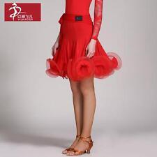 NEW Latin salsa tango rumba Cha cha Ballroom Dance Dress #YL322 Skirt 4 Colors