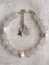 Rose Quartz charm bracelet Love Healing Fertility Friendship choice of charms