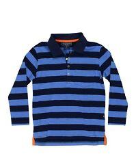 NWT Toobydoo Blue Long Sleeve Striped Polo Shirt $46 - Choose Size