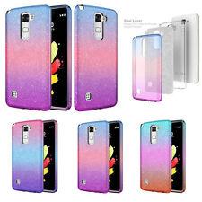 LG Phone Cases, Slim Candy Glitter Shine TPU Case w/ Reinforced Hard PC Back