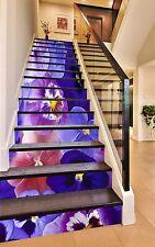 3D Blue Flower 432 Risers Decoration Photo Mural Vinyl Decal Wallpaper CA