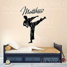 Karate Taekwondo Martial Arts Decal Custom Name Wall Personalized Vinyl Sticker