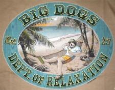 Brown Dept Relaxation Hammock Retire Big Dogs Tee Shirt M L XL 2X 5X 100% Cotton