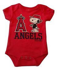Anaheim Angels Newborn Infant Creeper Snoopy Peanuts Baby Romper MLB  Apparel