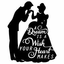 """7"""" PRINCESS CINDERELLA & PRINCE QUOTE Vinyl Decal Sticker Car Disney Wedding"""