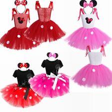 Kids Girls Cartoon Minnie Mouse Infant Mini Birthday Fancy Dress Up Costume