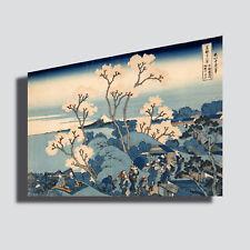 Quadri Moderni HOKUSAI fiori giappone Stampa Tela CANVAS casa arredamento arte