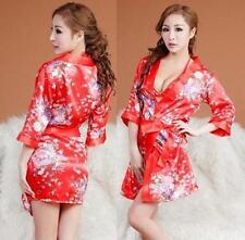 Sex fashion women lady Girls Bride Kimono Robe satin Night dress Gown Suit