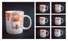 Starbucks GOLD Relief City Christmas Mug with SKU  *** Choose City ***