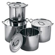 Deep Stainless Steel Casserole Catering Cooking Stockpot Saucepans Soup Stew Pot