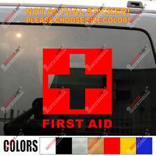 Pick size! First Aid Sign Symbol Car Truck Window Vinyl Decal Bumper Sticker