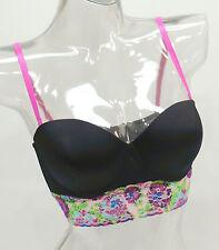 9480e681ef7c9 Joe Boxer Black Floral Lace Contour Underwire Bra Top Ladies 34B-36C  M54363