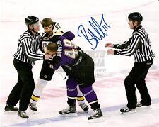 Brian McGrattan Providence Bruins Signed Autograph Fight 8x10 Predators