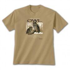 T shirt Advice From an OWL T-shirt Earth Sun Moon Tan Brown NEW NWT Bird Prey