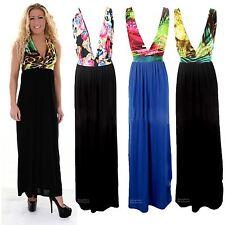 Women's Summer Stretch Leopard Animal Multicolour Strap Maxi Ladies Dress 8-14