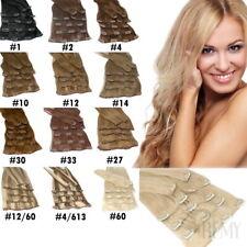 Clip In Extensions Haarteile 3,5,8,13 Tressen Indische Remy Echthaar Strähnen