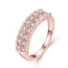 Ring Rotgold pl. mit 16 klaren schön geschliffenen Kristallen Gold Verlobung
