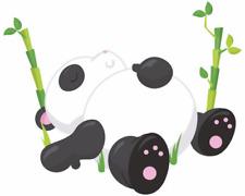 Schlafender Panda Aufkleber Sticker Autoaufkleber Scheibenaufkleber