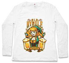 OLD HYRULE TAVERN II DAMEN LANGARM T-SHIRT Link Gameboy Legend Game Zelda Bar