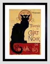 BLACK Cat Chat Noir RODOLPHE sali com presi nel Paris France Vintage Incorniciato Stampa b12x2895