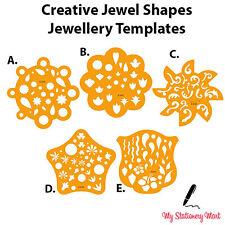 Plantilla Dibujo Elaboración Joyas de diseño de la plantilla las formas de piedra preciosa piedra