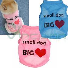 Maglia maglietta Dog Big Love vestito t shirts cane cucciolo animali domestici