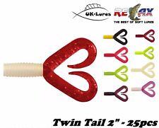 "RELAX Twin Tail 2"" 25 pcs Grub soft plastic drop shot lure jig cannibal kopyto"