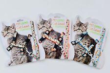 Fish Design Cat Harness & Lead Blue, Orange& Brown!