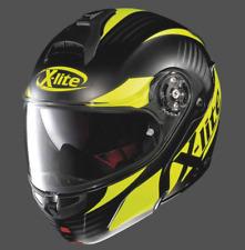 X-Lite X-1004 Nordhelle Flat Black/yellow Modular/Flip up Motorcycle Helmet