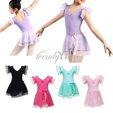 Children's Ballet Dress Leotard with Skirt Dance Costumes Tutu Outfit for Girls