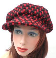 Damenmütze Schirmmütze Übergangsmütze Farbauswahl Stoffmix Mützen Strickmützen