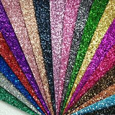 Tela Brillo Ultra Grueso Liso A4 o A5 Hojas Imitación De Cuero Para Arcos & Crafts