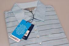 QuickDry PGA Tour Ladies Golf Polo Be Inspired Blue Lurex Stripe 10/12 14/16 New