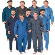 Mens Pyjamas Set Poplin Nightwear Night Shirt Trousers Sleepwear PJs Cargo Bay
