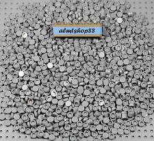 LEGO - 1x1 Round Finishing Tiles Light Gray Smooth 98138 Plates Flat Bulk Lot